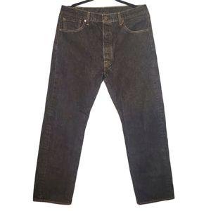 Levi's 501 Button Fly Dark Wash Jeans W36 x L32